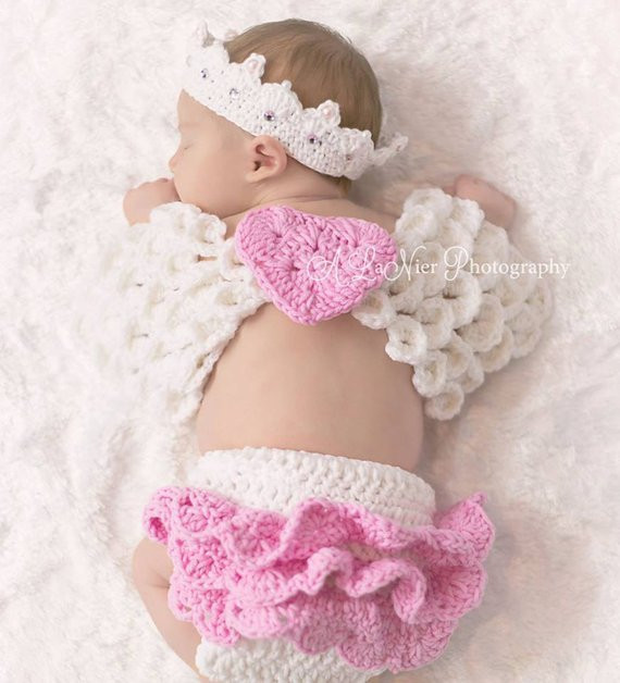 Crochet Angel Wings Unique Crochet Angel Wings Crown and Diaper Cover by Of Charming 49 Images Crochet Angel Wings
