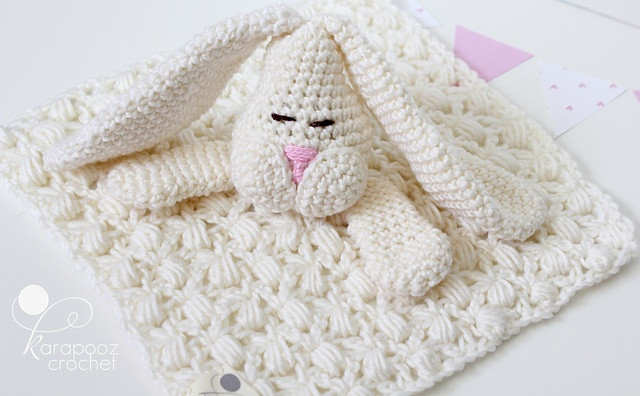 Crochet Animal Blankets Unique Floppo the Bunny Security Blanket Pattern by Karapooz Of Marvelous 39 Photos Crochet Animal Blankets
