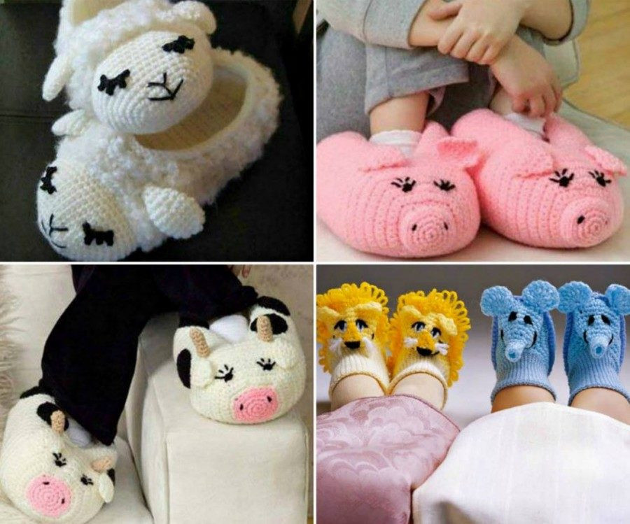 Crochet Animal Patterns Awesome Animal Crochet Slippers Of Incredible 48 Images Crochet Animal Patterns