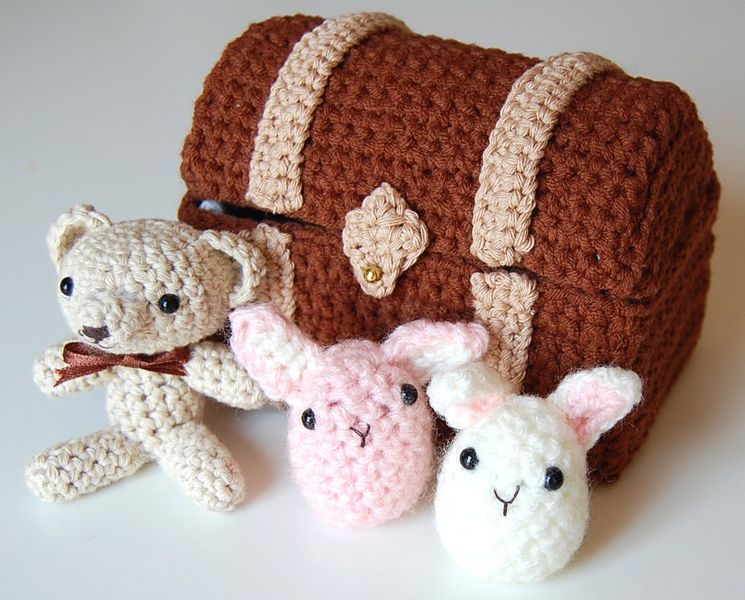 Crochet Animal Patterns Elegant Amieggs toy Chest & Free Bunnies Pattern Of Incredible 48 Images Crochet Animal Patterns
