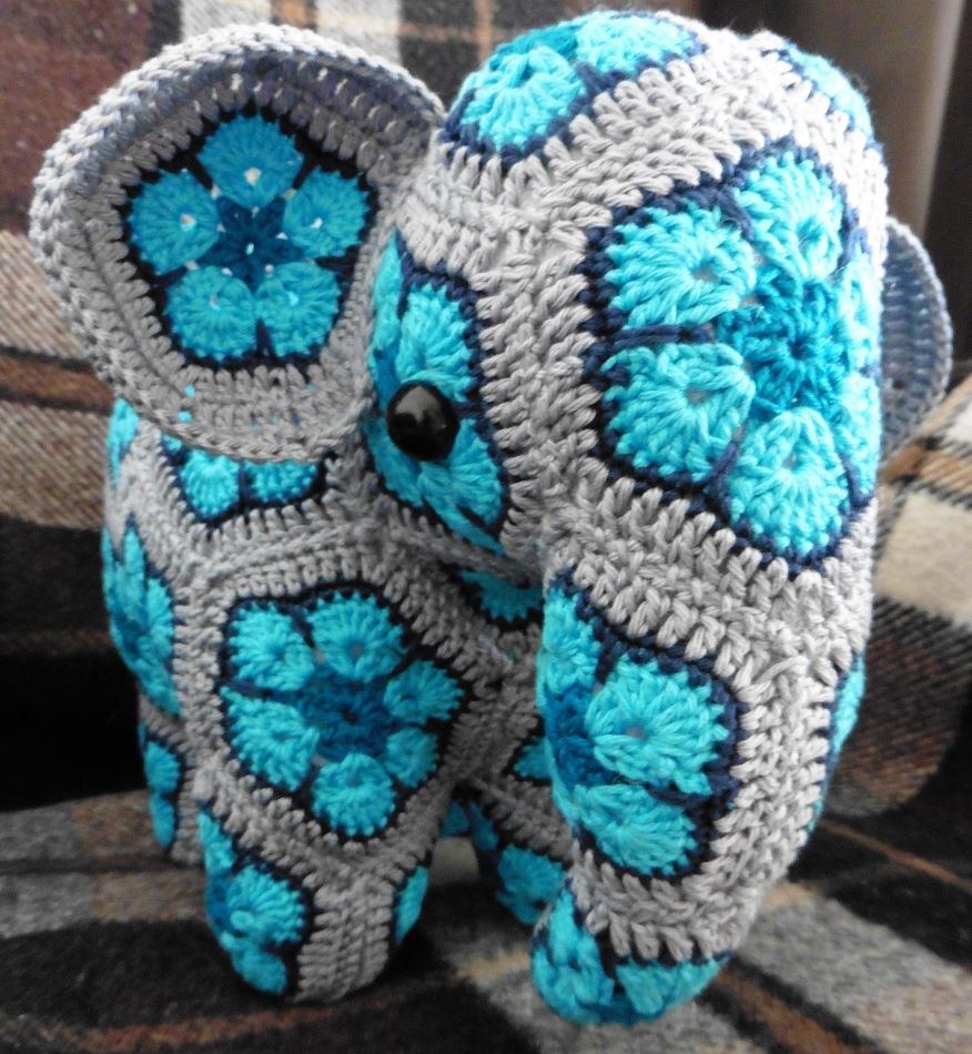 Crochet Animal Patterns Inspirational Elephant African Flowers Credits for the Pattern to Anne Of Incredible 48 Images Crochet Animal Patterns