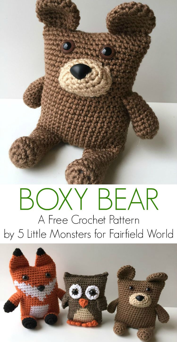 Crochet Animal Patterns Luxury 5 Little Monsters Boxy Bear Of Incredible 48 Images Crochet Animal Patterns