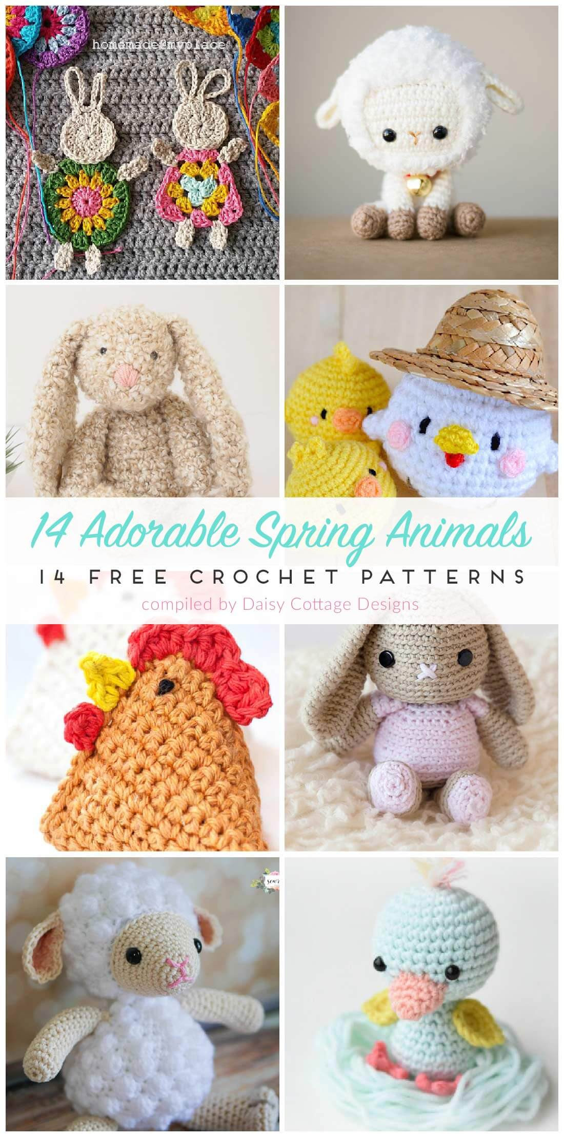 Crochet Animal Patterns Luxury Free Crochet Patterns for Spring Daisy Cottage Designs Of Incredible 48 Images Crochet Animal Patterns