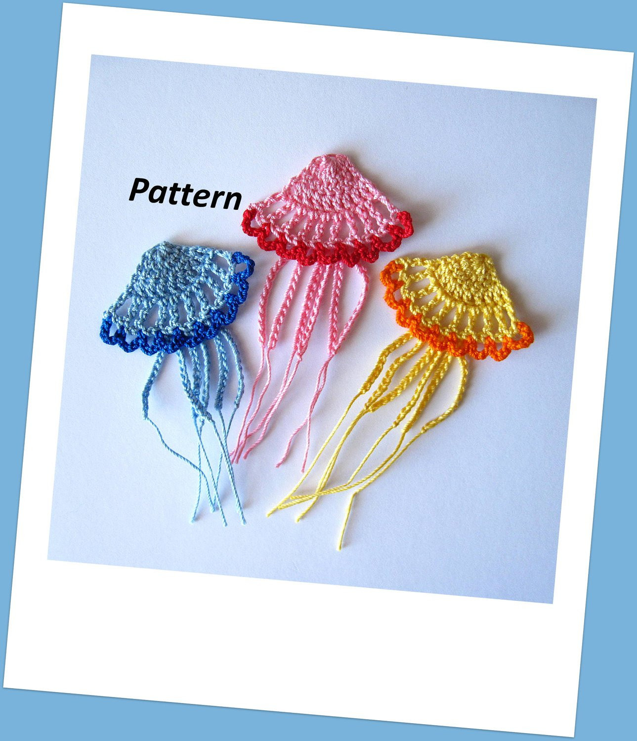 Crochet Applique New Crochet Jellyfish Pattern Applique by Goldenlucycrafts On Etsy Of Marvelous 47 Images Crochet Applique