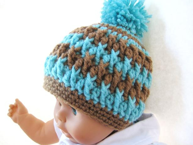 Crochet Baby Beanie Unique Crochet Dreamz Pom Pom Beanie for Boy or Girl Crochet Of Beautiful 46 Pictures Crochet Baby Beanie