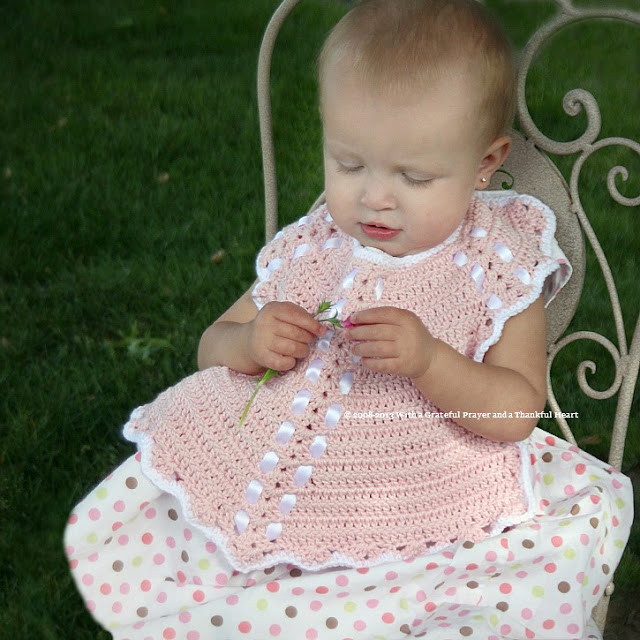 With a Grateful Prayer and a Thankful Heart Crochet Baby