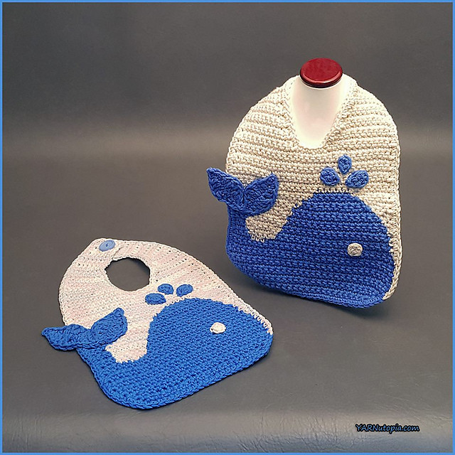 The Blue Whale Baby Bib Free Crochet Baby Pattern ⋆ Free