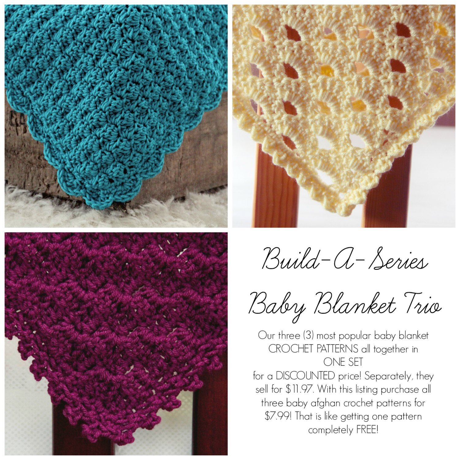 Crochet Baby Blanket for Sale Awesome Sale Easy Crochet Patterns Baby Blanket Trio 3 In One Afghan Of Attractive 48 Photos Crochet Baby Blanket for Sale