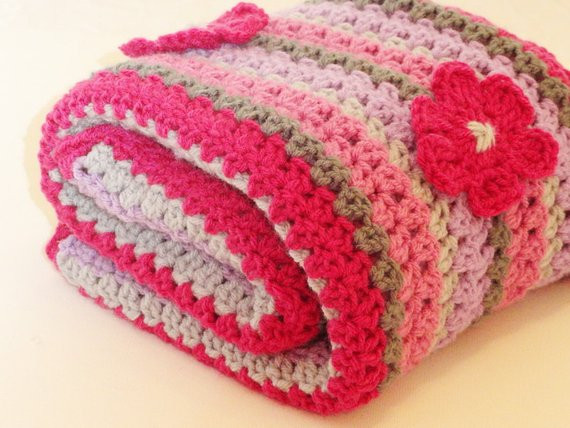 Crochet Baby Blanket for Sale Inspirational Sale Crochet Blanket Baby Girls Pink Gray and Purple Afghan Of Attractive 48 Photos Crochet Baby Blanket for Sale