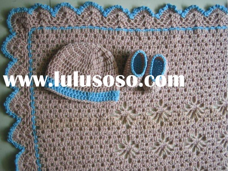 fashion crochet baby blanket for sale Price China