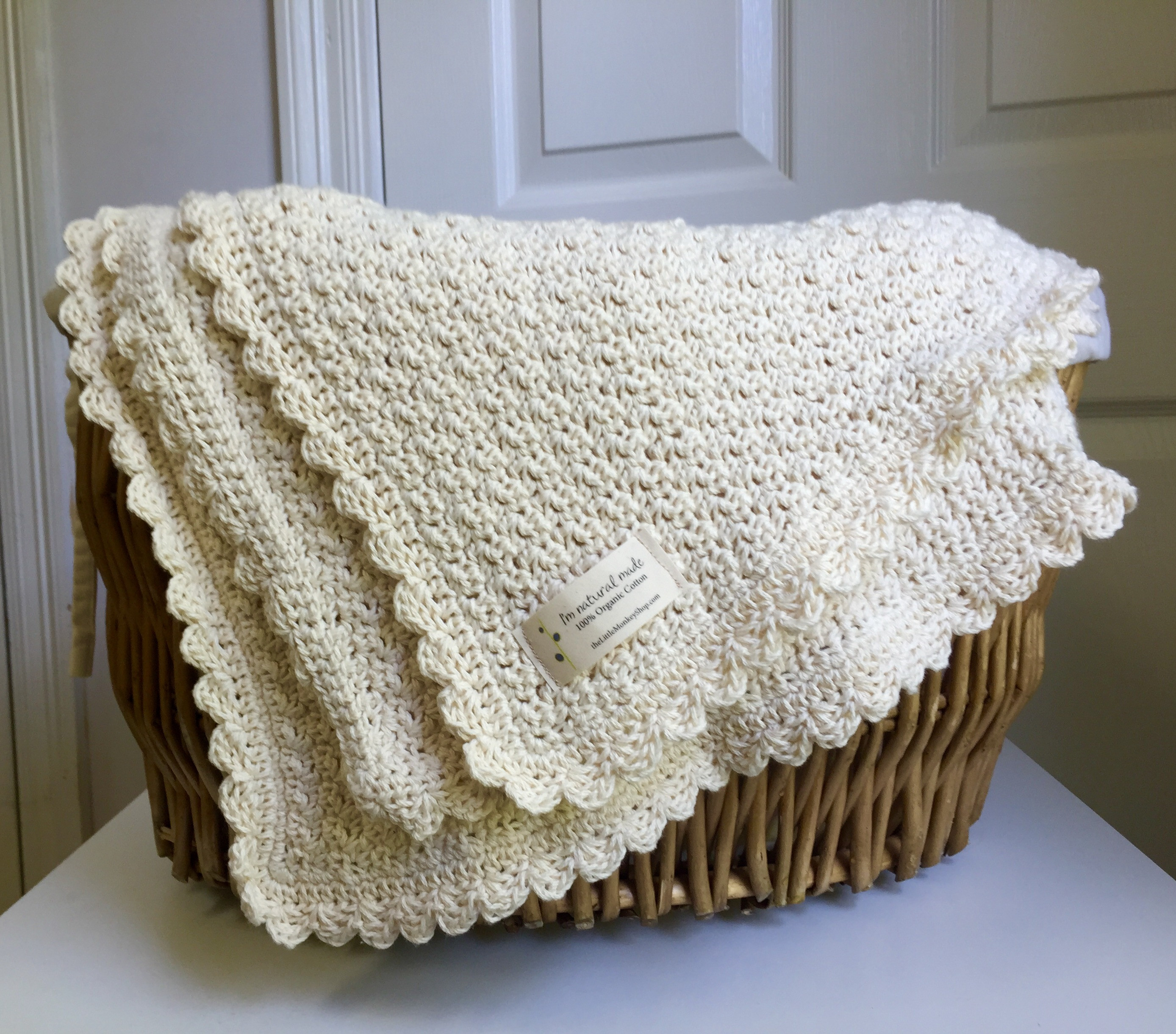 organic cotton pure and simple baby blanket