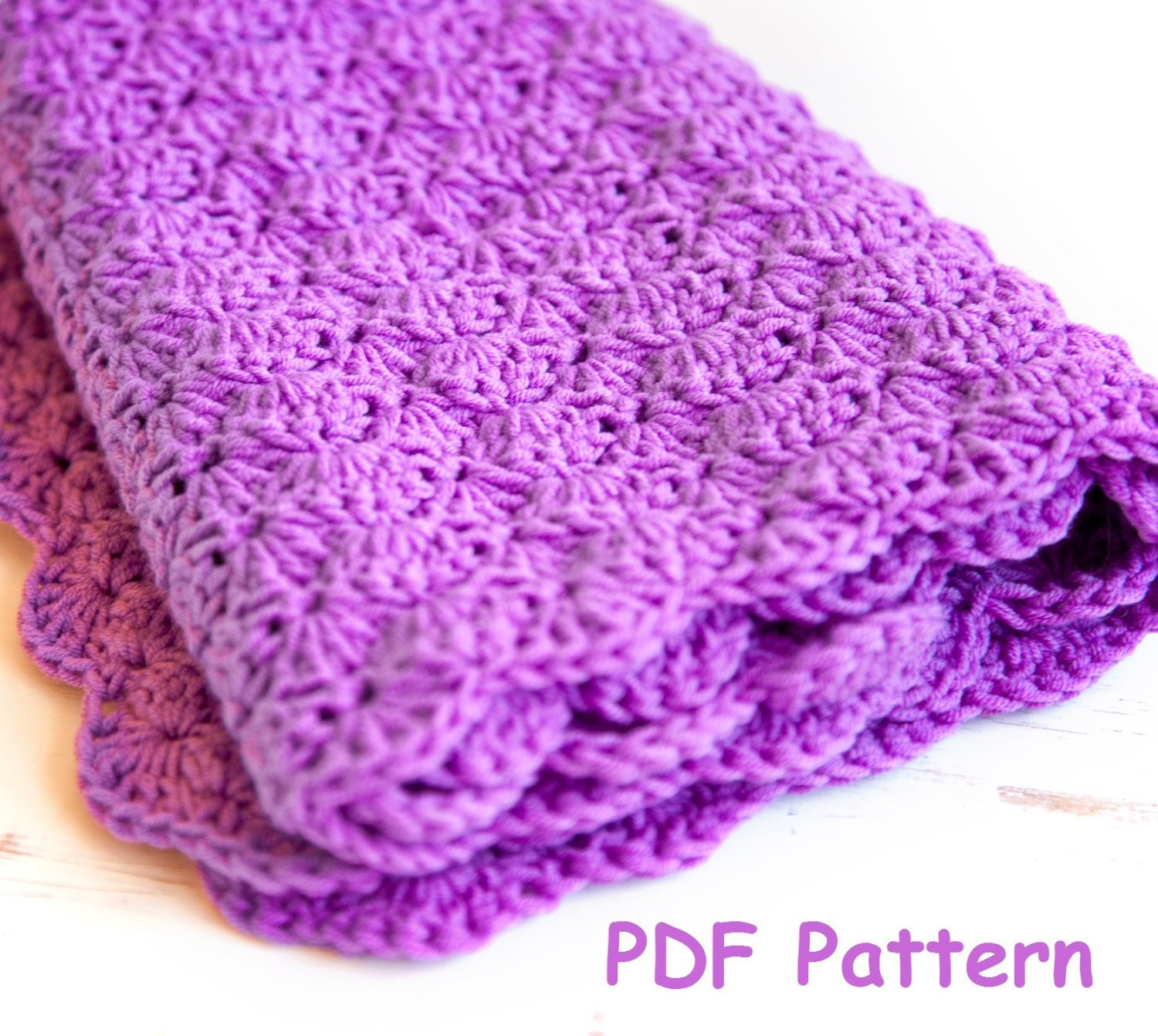 Crochet shell stitch baby blanket pattern Easy crochet for