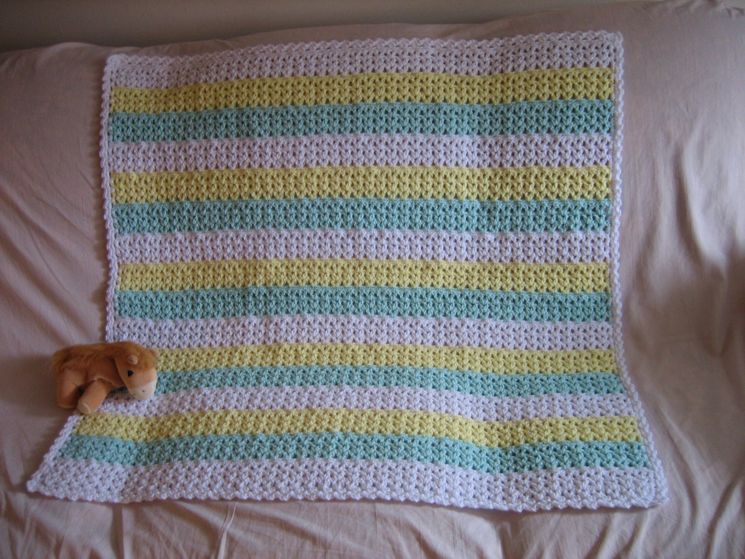 Crochet Baby Blanket Patterns Fresh Striped Crochet Afghan Of Fresh 44 Models Crochet Baby Blanket Patterns