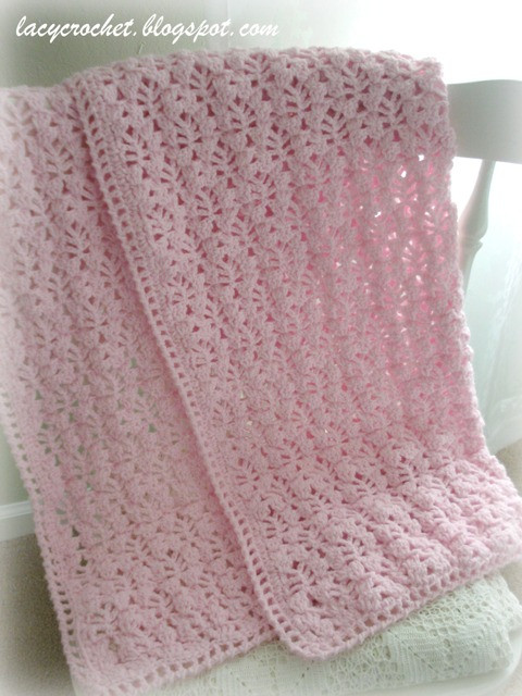 Lacy Crochet Pretty Lacy Stitch for a Baby Blanket