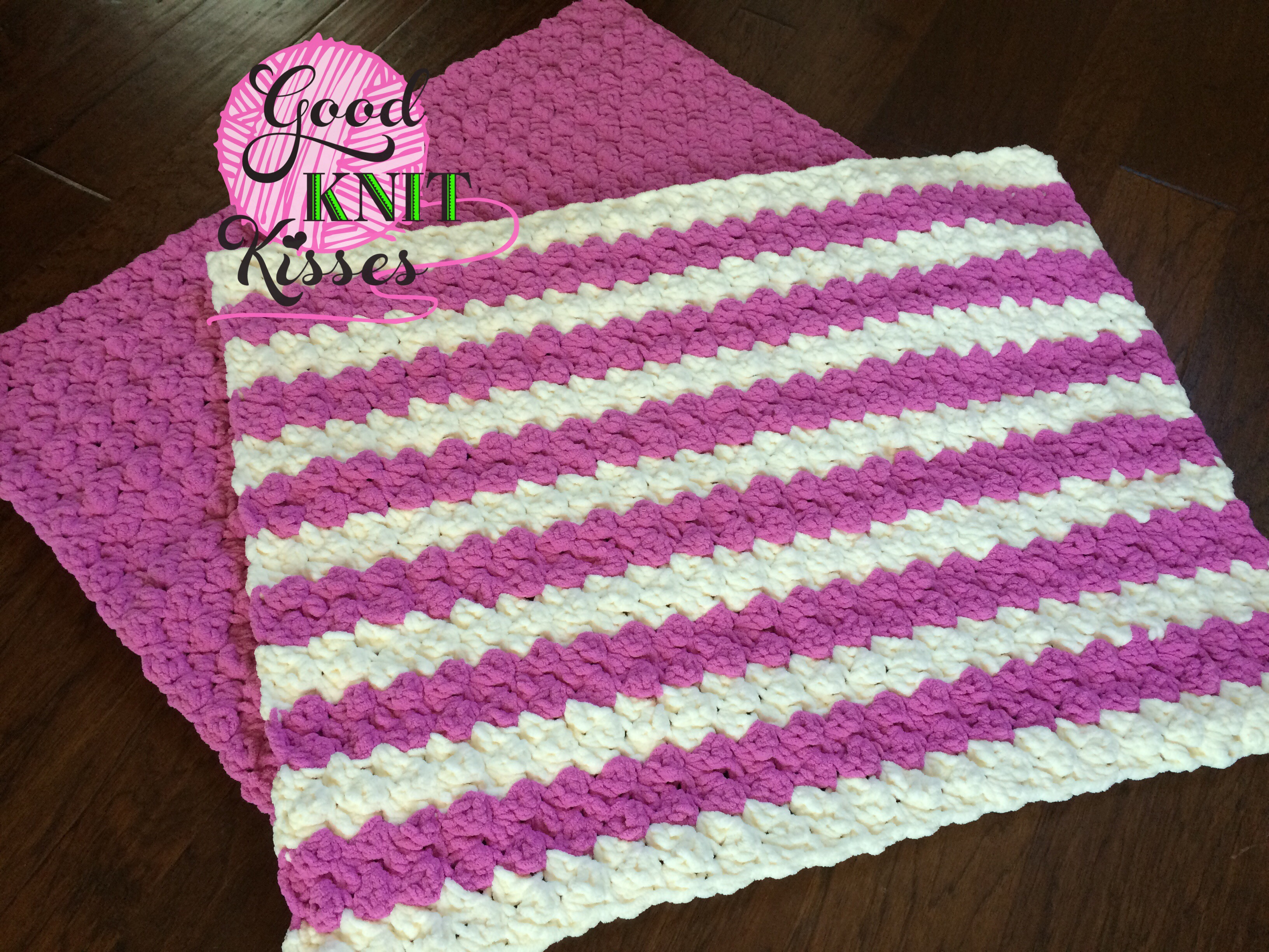 Marshmallow Crochet Baby Blanket GoodKnit Kisses