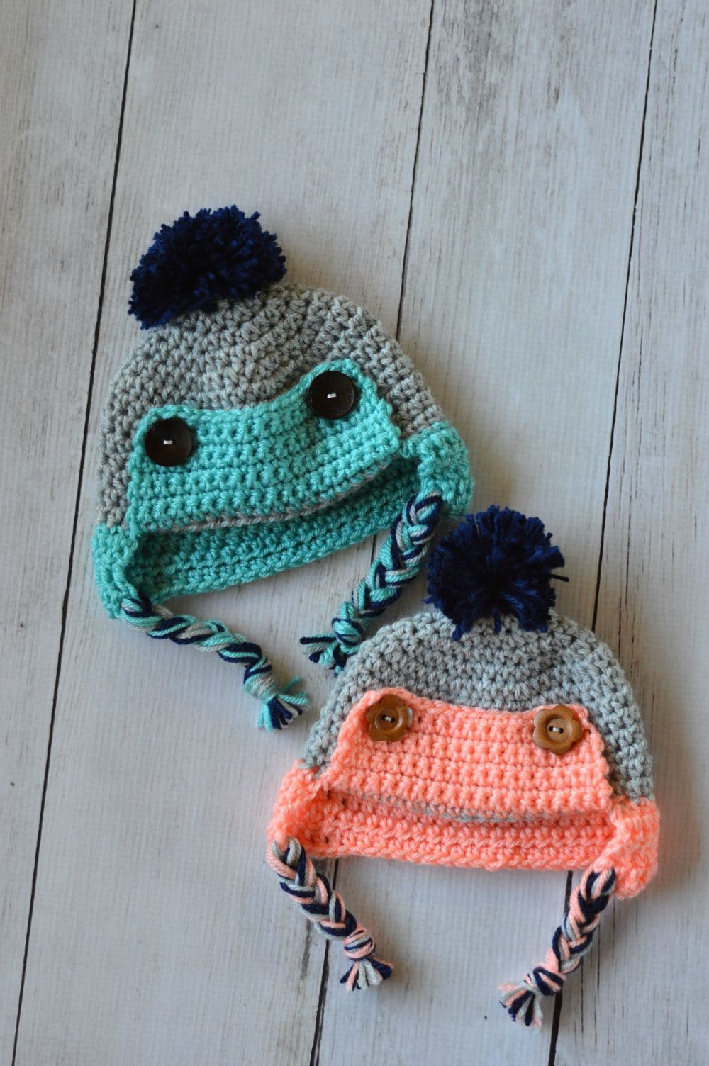 Baby Button Trapper Hat Whistle and Ivy