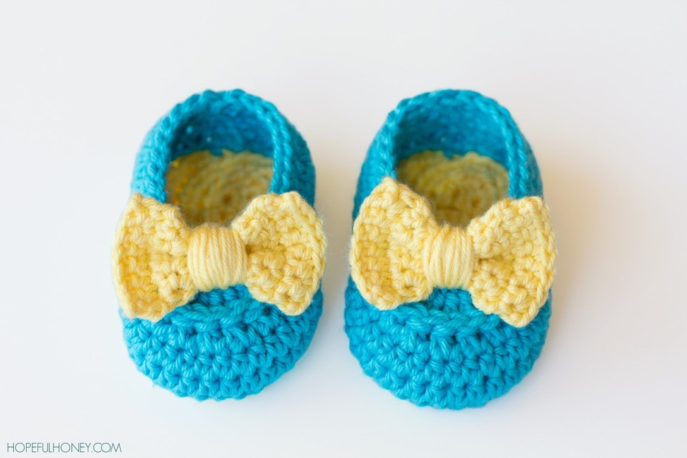 Crochet Baby Booties Elegant Yellow Bow Easy Crochet Baby Booties Of Crochet Baby Booties Fresh Crochet Baby Mary Jane Booties Free Patterns
