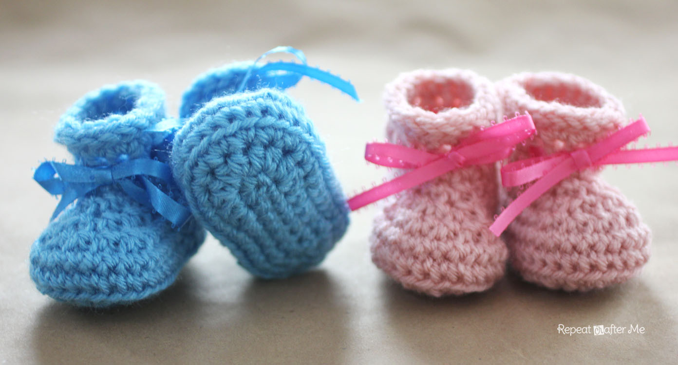Crochet Baby Booties Unique Crochet Newborn Baby Booties Pattern Repeat Crafter Me Of Crochet Baby Booties Fresh Crochet Baby Mary Jane Booties Free Patterns