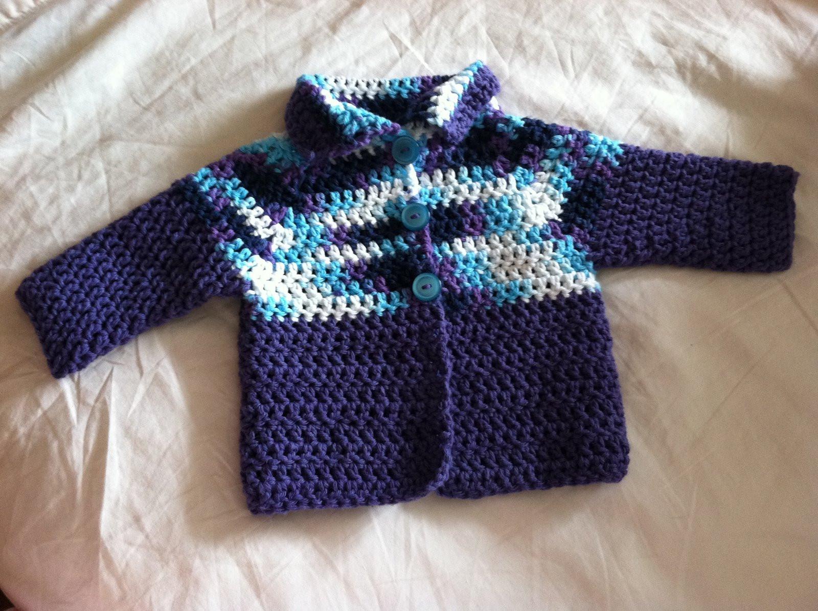 Cookin & Craftin Crocheted Baby Cardigan