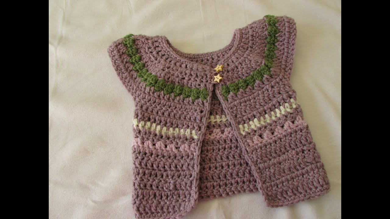 Crochet Baby Cardigan Elegant Very Easy Chunky Crochet Baby Girl S Cardigan Tutorial Of Amazing 49 Pics Crochet Baby Cardigan