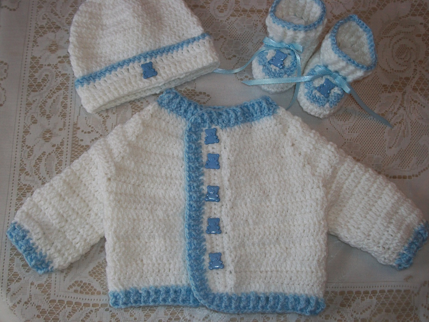 how to crochet baby boy sweater