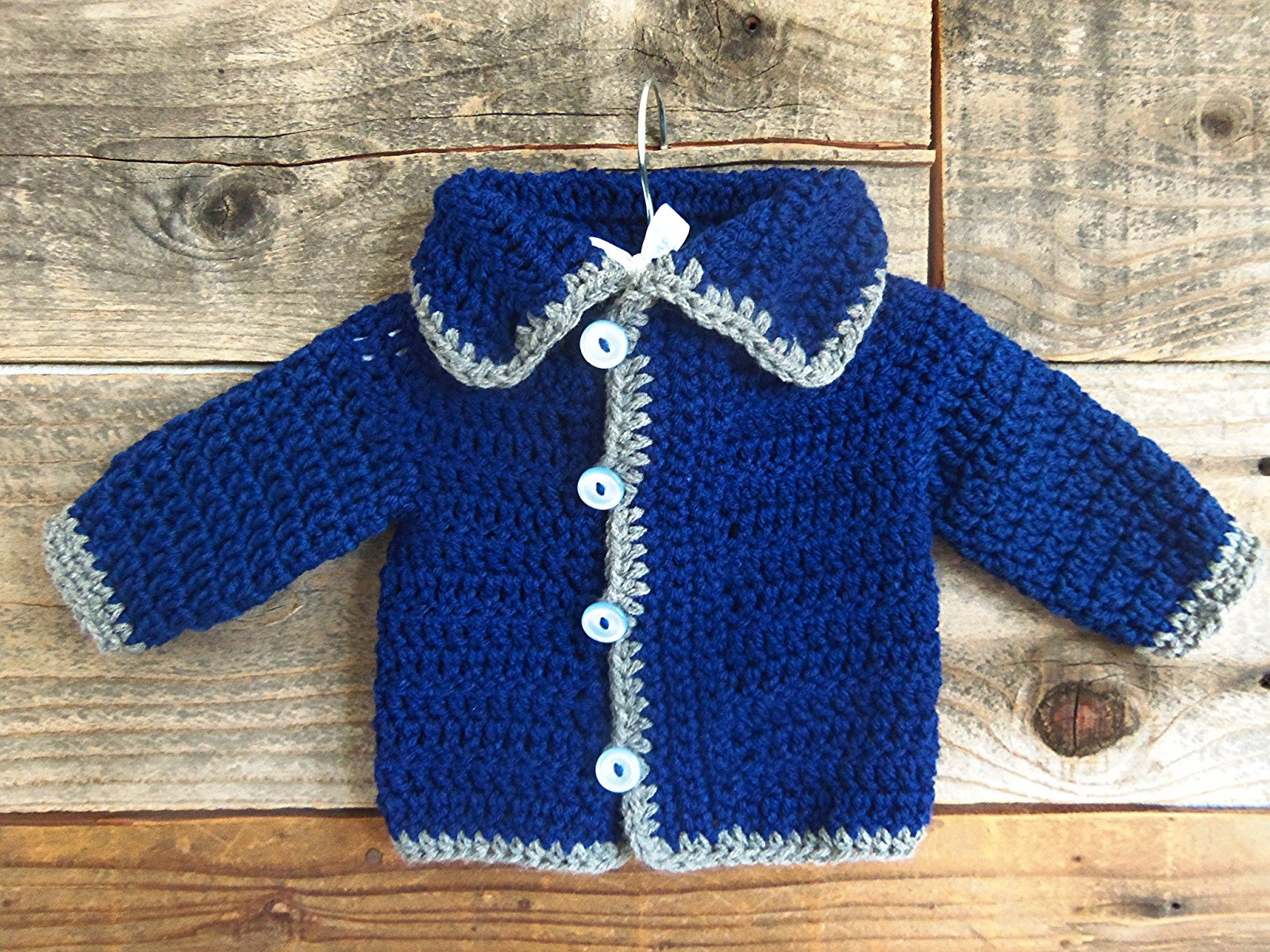 3squeezes Easy Crochet Baby Sweater