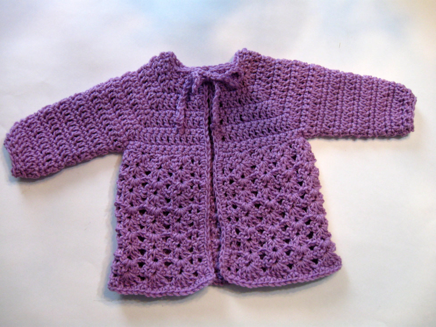 simple crochet baby sweater
