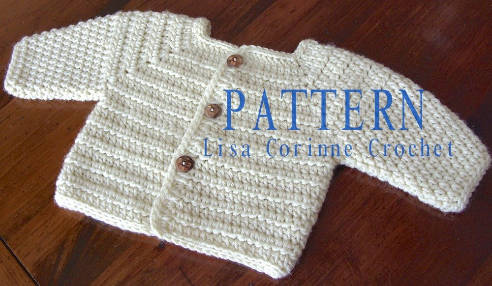 Baby Sweater PATTERN Baby Boy Crochet Sweater PATTERNS