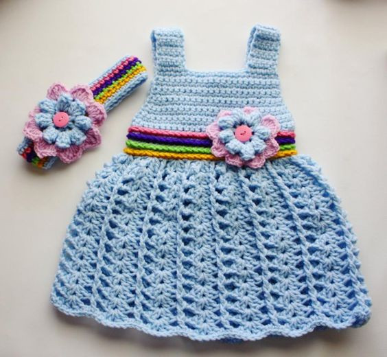 Crochet Baby Clothing Fresh Crochet Baby Baby Dress Patterns and Patterns On Pinterest Of Amazing 44 Ideas Crochet Baby Clothing