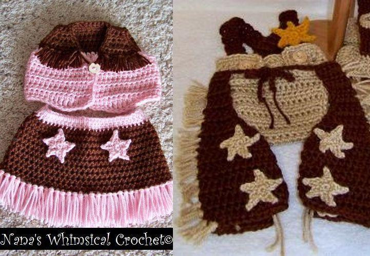 Crochet Baby Cowboy Hat and Boots Pattern Free Inspirational Cowboy & Cowgirl Accessories Ver 4 by Carovan60 Craftsy Of Brilliant 40 Ideas Crochet Baby Cowboy Hat and Boots Pattern Free