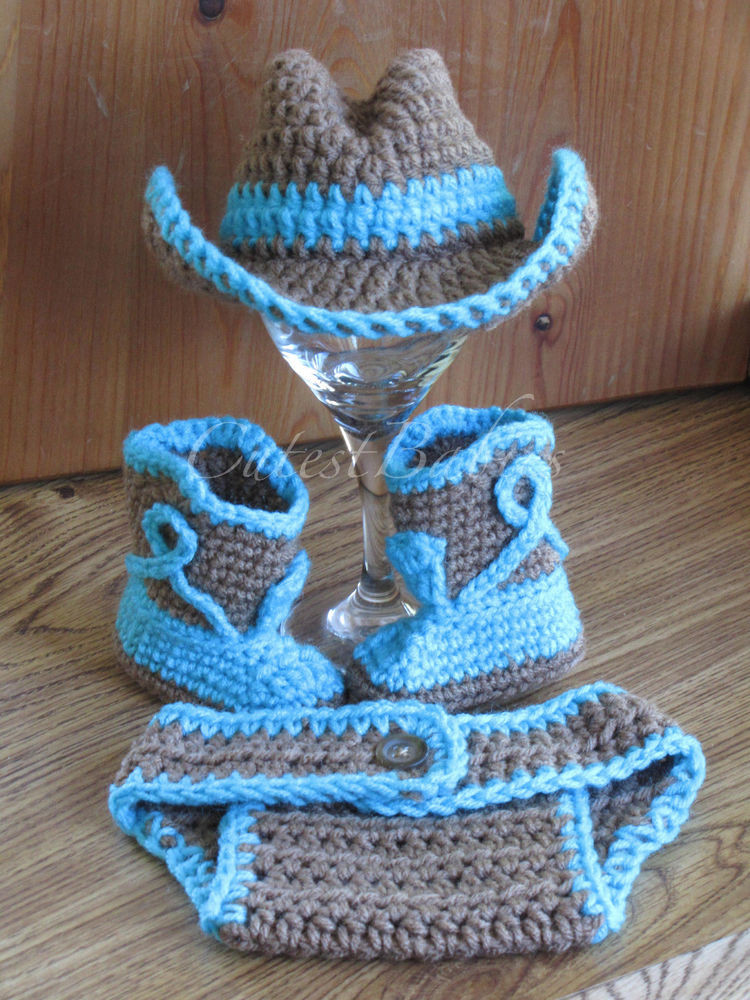 Crochet Baby Cowboy Hat and Boots Pattern Free Luxury Baby Crochet Cowboy Hat Boots & Diaper Cover Prop Of Brilliant 40 Ideas Crochet Baby Cowboy Hat and Boots Pattern Free