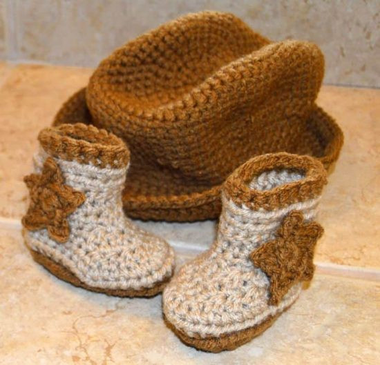 Crochet Baby Cowboy Hat and Boots Pattern Free Unique Crochet Cowboy Outfit Pattern Free Video Tutorial Of Brilliant 40 Ideas Crochet Baby Cowboy Hat and Boots Pattern Free