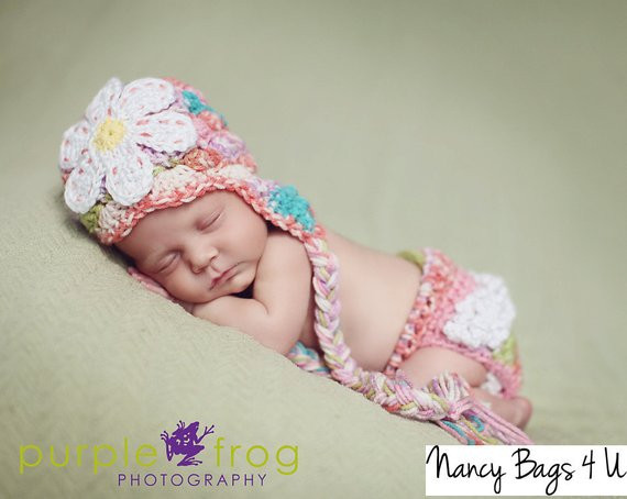 Crochet Baby Diaper Cover and Hat Awesome Crochet Baby Hat and Diaper Cover Set Newborn by Nancybags4u Of Perfect 50 Photos Crochet Baby Diaper Cover and Hat