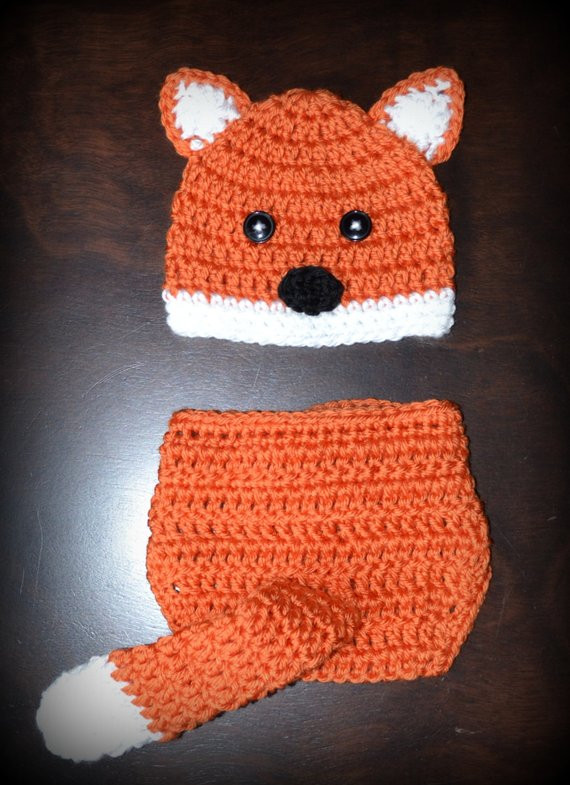 Crochet Baby Diaper Cover and Hat Beautiful Crochet Fox Baby Beanie Hat & Diaper Cover Prop Custom Of Perfect 50 Photos Crochet Baby Diaper Cover and Hat
