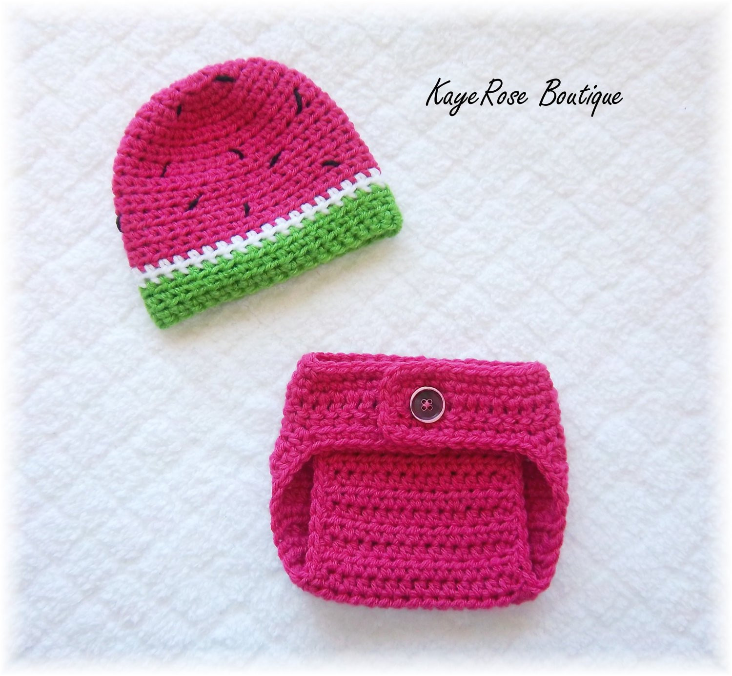 Crochet Baby Diaper Cover and Hat Elegant Newborn Baby Crochet Watermelon Hat & Diaper Cover by Of Perfect 50 Photos Crochet Baby Diaper Cover and Hat