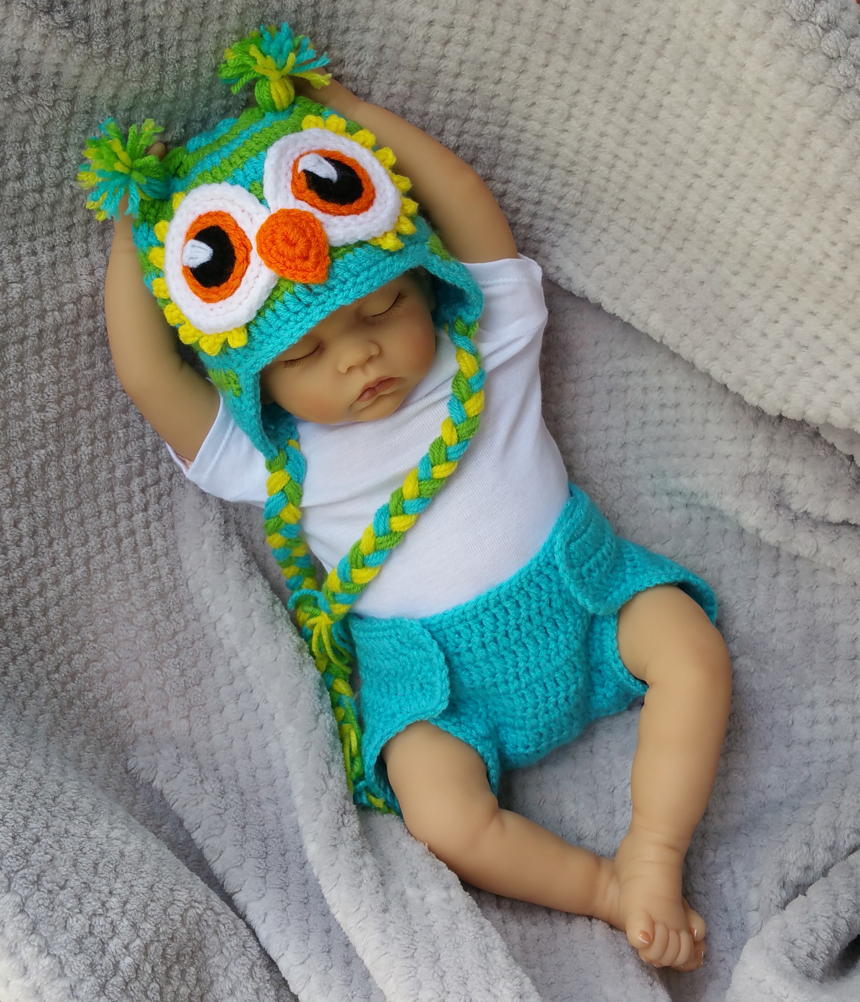Crochet Baby Diaper Cover and Hat Fresh Crochet New Baby Clothing Set Baby Owl Hat and Crochet Of Perfect 50 Photos Crochet Baby Diaper Cover and Hat