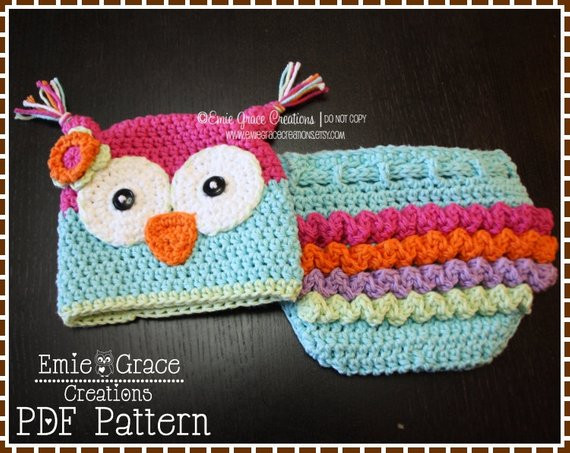 Crochet Baby Diaper Cover and Hat Fresh Crochet Owl Hat and Ruffle Diaper Cover Patterns Olivia and Of Perfect 50 Photos Crochet Baby Diaper Cover and Hat