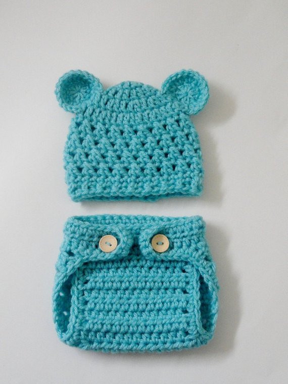 Crochet Baby Diaper Cover and Hat Fresh Items Similar to Sale Crocheted Teddy Bear Baby Hat and Of Perfect 50 Photos Crochet Baby Diaper Cover and Hat