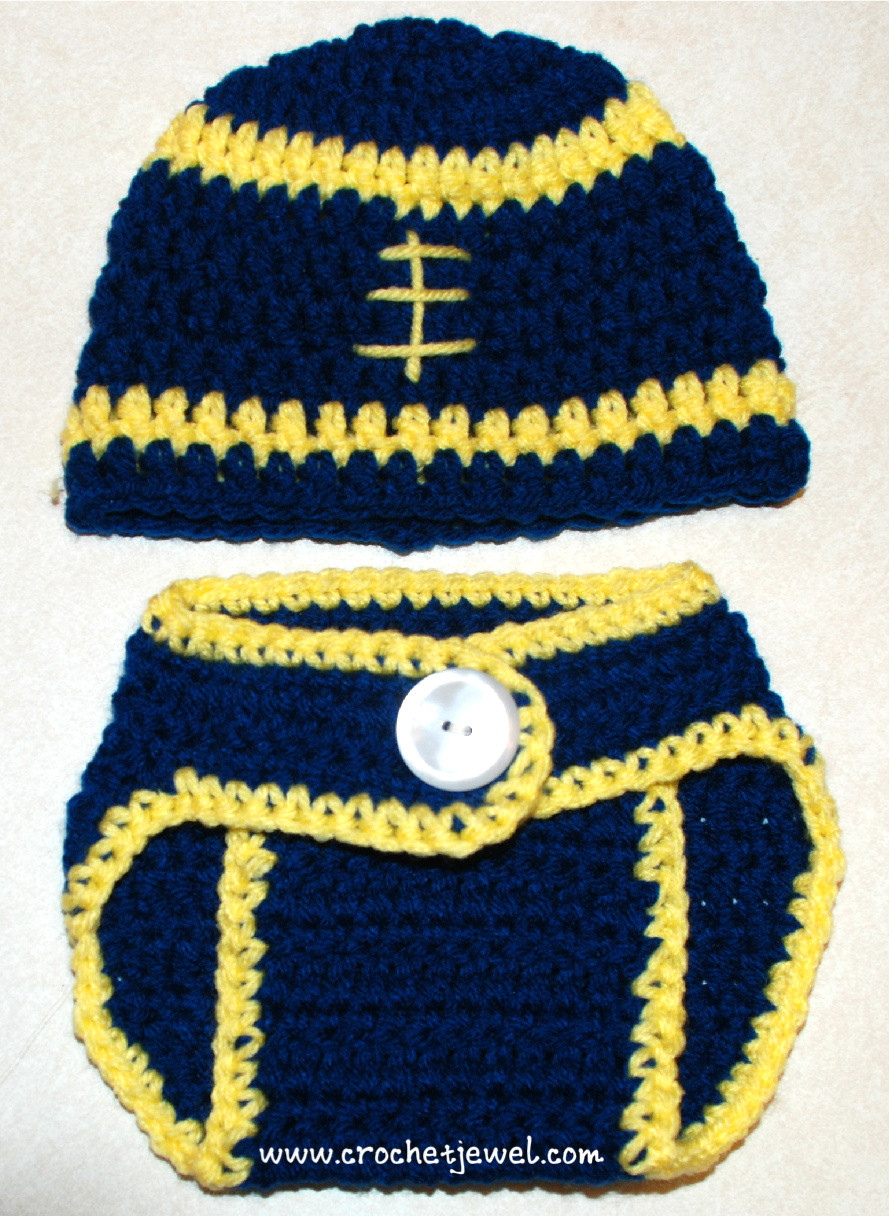 Crochet Baby Diaper Cover and Hat Unique Crochet Baby 0 3 Months Football Hat and Diaper Cover Of Perfect 50 Photos Crochet Baby Diaper Cover and Hat