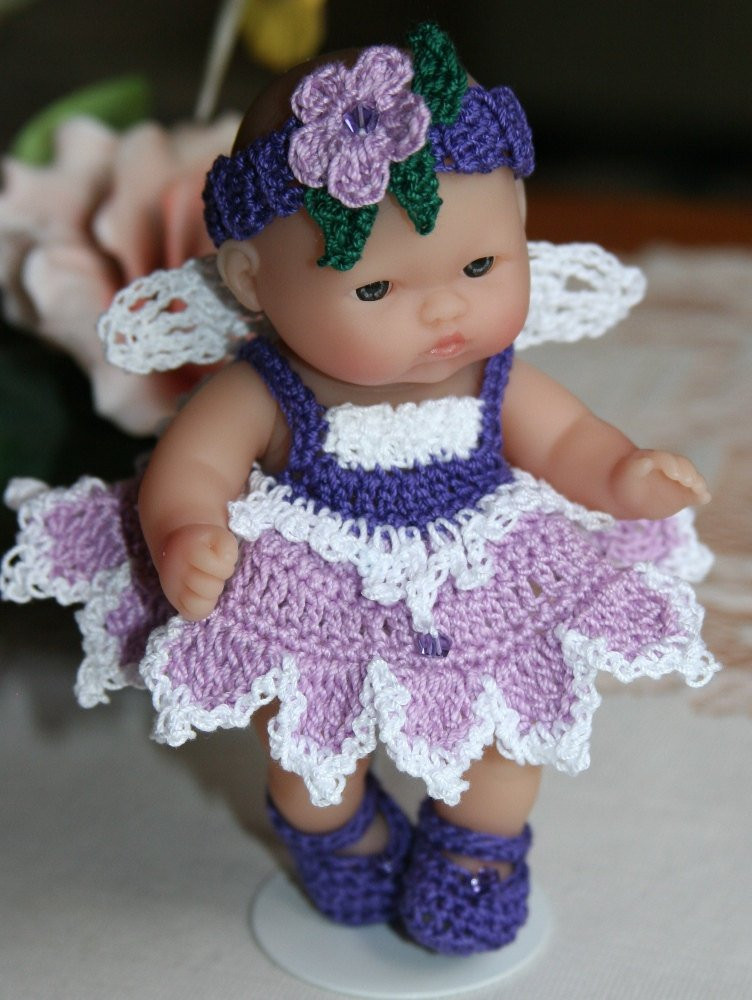 Crochet Baby Doll Pattern Awesome Pdf Pattern Crochet 5 Inch Berenguer Baby Doll Fairy Angel Set Of Amazing 40 Pics Crochet Baby Doll Pattern