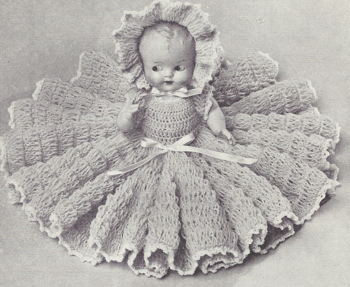 Crochet Baby Doll Pattern Inspirational Vintage Crochet Pattern to Make 11 Inch Bed Doll Baby Of Amazing 40 Pics Crochet Baby Doll Pattern