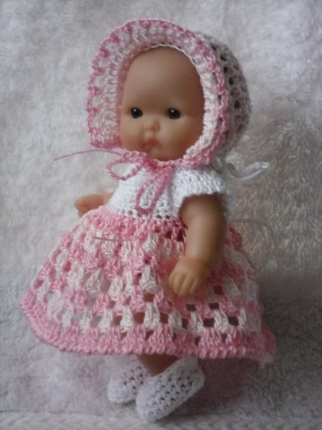 Crochet Baby Doll Pattern New Crochet Pattern for Berenguer 5 Inch Baby Doll Dress Of Amazing 40 Pics Crochet Baby Doll Pattern