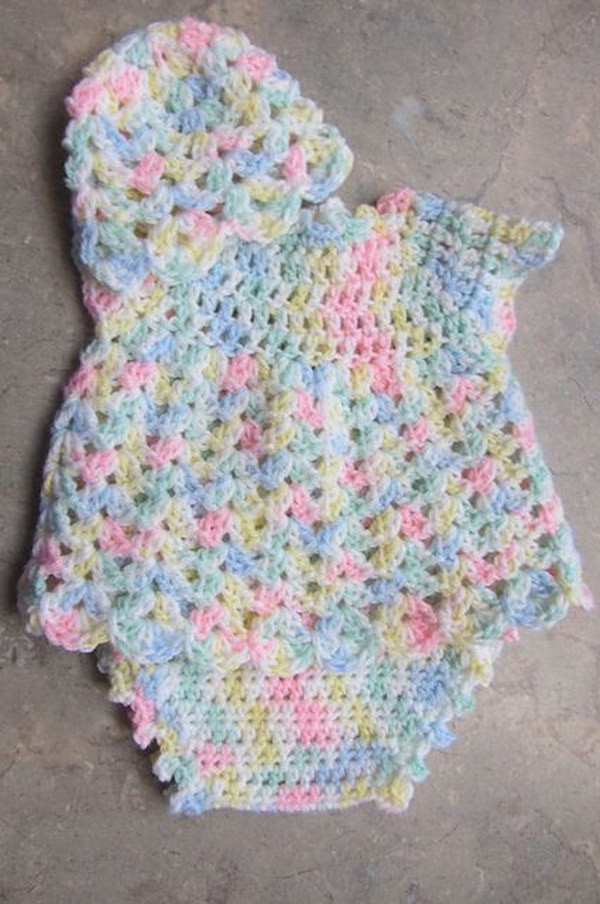 Crochet Baby Dress Lovely Cool Crochet Patterns & Ideas for Babies Hative Of Charming 50 Photos Crochet Baby Dress