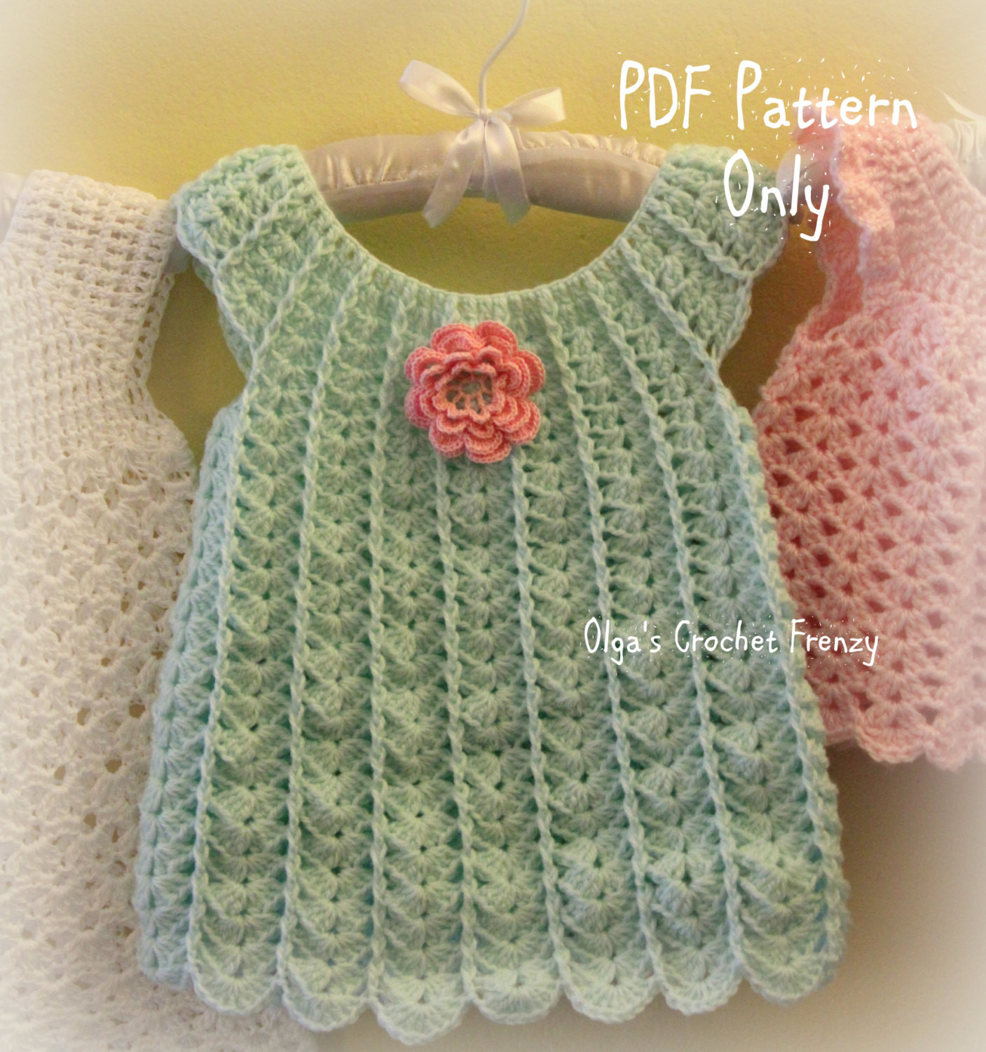 Crochet Baby Dress New Shells Baby Dress Crochet Pattern Size 3 6 Months Easy to Of Charming 50 Photos Crochet Baby Dress