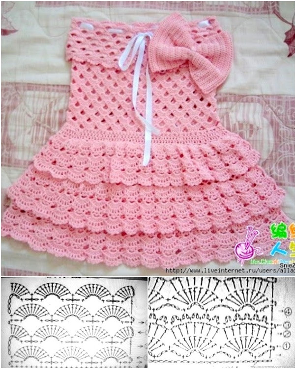 Crochet Baby Dress Patterns Best Of 16 Patterns for Cute Crochet Girls Dresses Of Awesome 42 Models Crochet Baby Dress Patterns