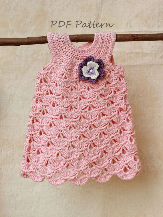 Crochet Baby Dress Crochet pattern Baptism baby girl