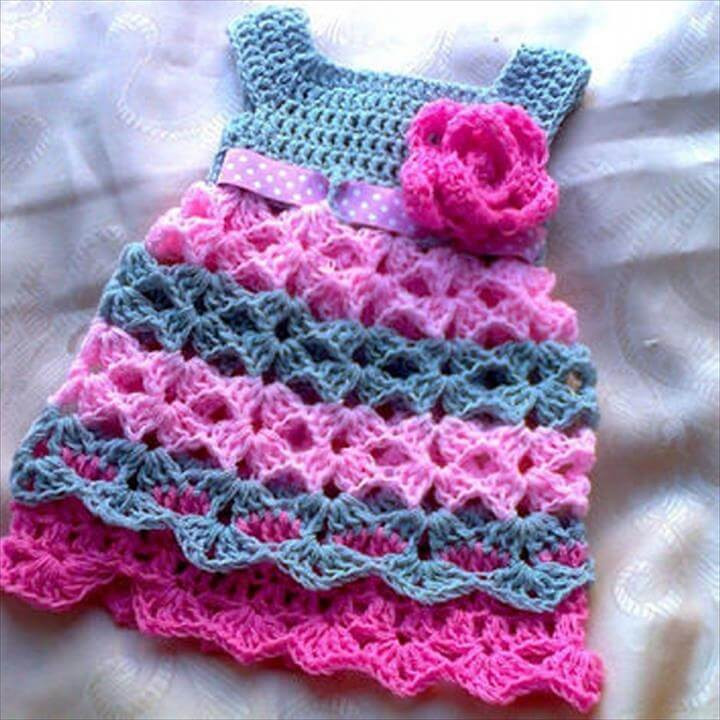 Crochet Baby Dress Patterns Luxury 26 Gorgeous Crochet Baby Dress for Babies Of Awesome 42 Models Crochet Baby Dress Patterns