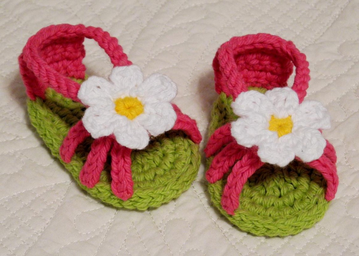 Crochet Baby Flip Flops for Boys and Girls fortable Wear