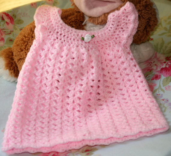 NEWBORN Crochet baby dress girl clothes from