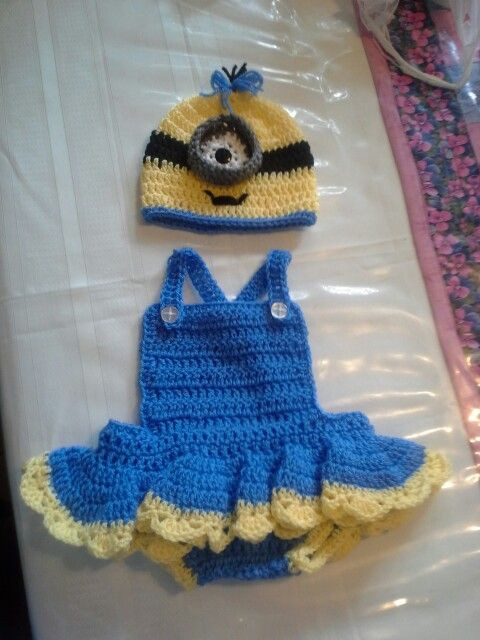 Crochet Baby Girl Outfits Best Of Girl Minion Crochet Baby Girls and Minion Outfit On Pinterest Of Perfect 41 Pictures Crochet Baby Girl Outfits
